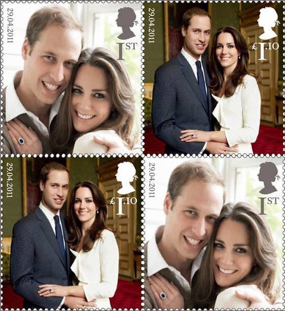 Official Royal Wedding Pictures.The Official Royal Wedding Stamps What Kate Wore