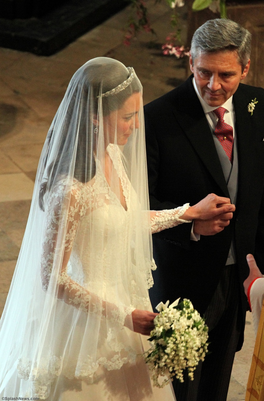 Kate Michael Middleton Westminster Abbey McQueen Wedding Gown