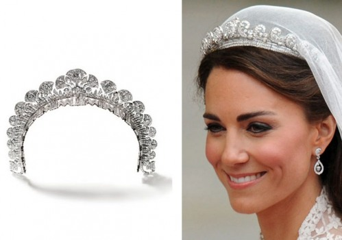 Kate Middleton Wedding Tiara Closeup Close Up