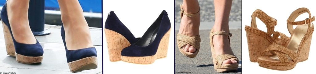 925afad2f28 One of Kate s most-worn styles has been the Corkswoon wedge espadrille in   nice blue suede