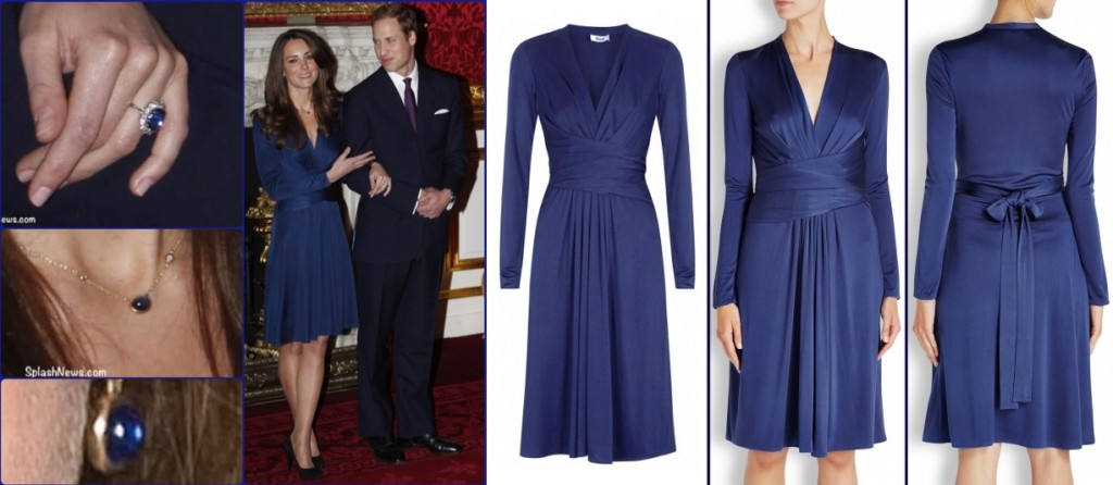 kate Iconic Looks Engagement Announcement Blue Issa Dress Made May 4 2017