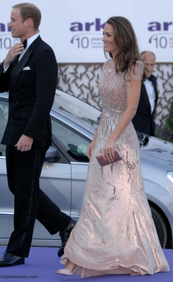 Kate Shines in Jenny Packham, a Prada Purse, Links of London & LK ...