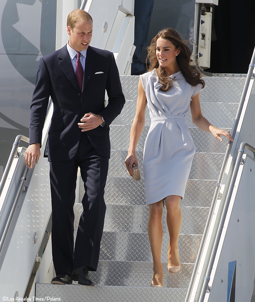 Kate Middleton William Arrive Los Angeles July 2011