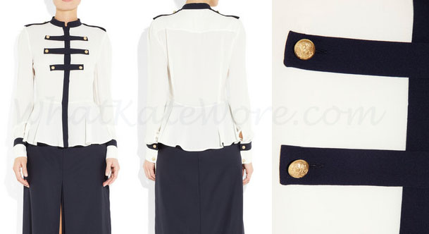 Military Stytle Silk Blouse via Net-a-Porter