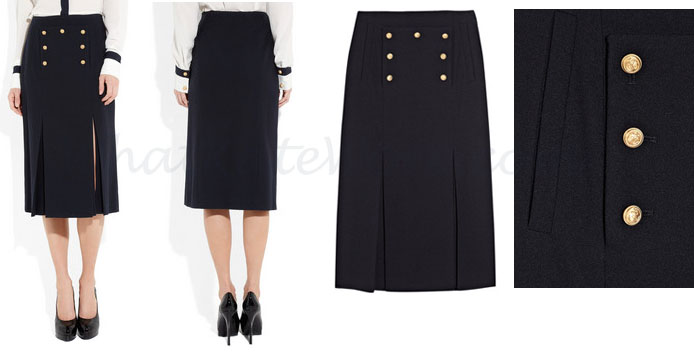 McQueen Wool Embellished Skirt at Net-a-Porter