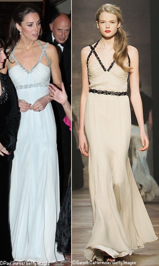 The Dress Is From Designer S Fall Winter 2006 2007 Collection Here You Can See How Kate Changed Waistline Of Her Raising Belt