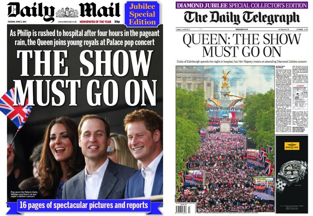 The Daily Mail/The Telegraph