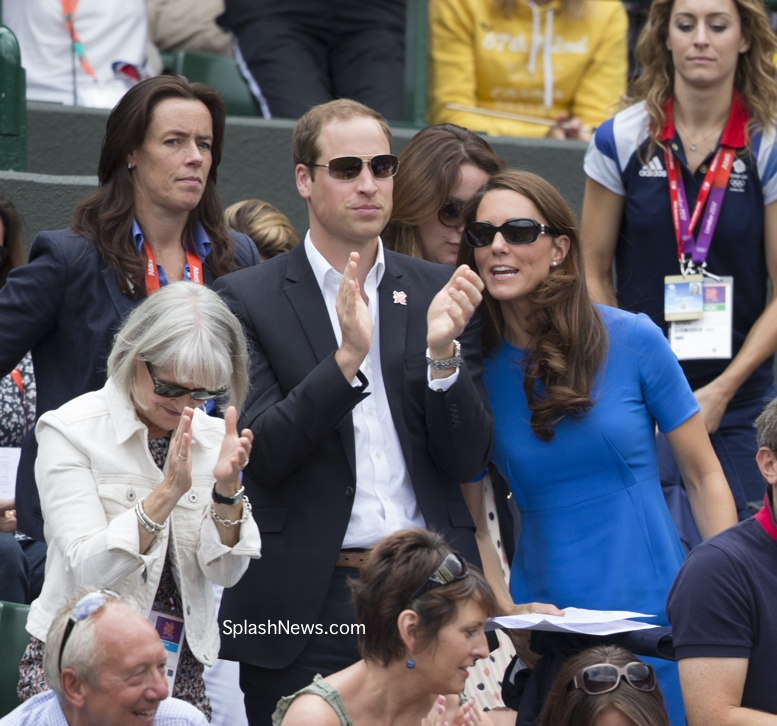 Prince William Catherine Kate Middleton watch Andy Murray Olympics games