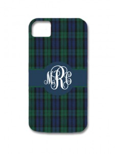 Black Watch Plaid iPhone Case
