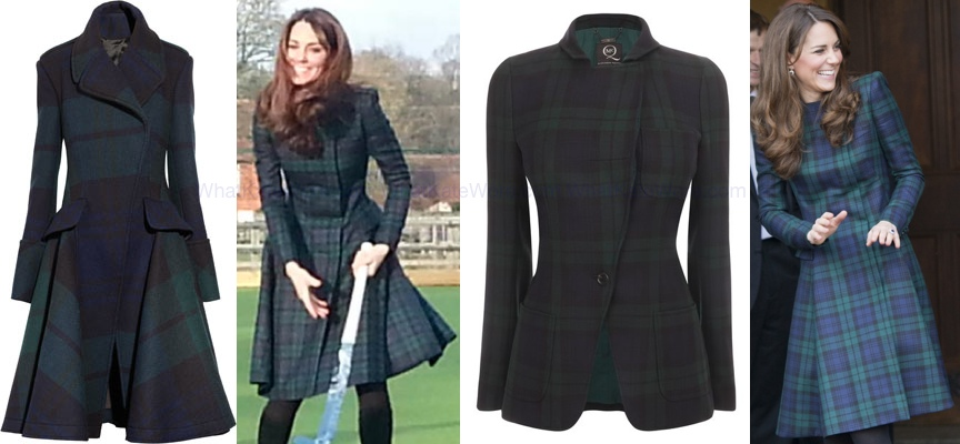 Duchess Navy Green Plaid Coat Archives What Kate Wore