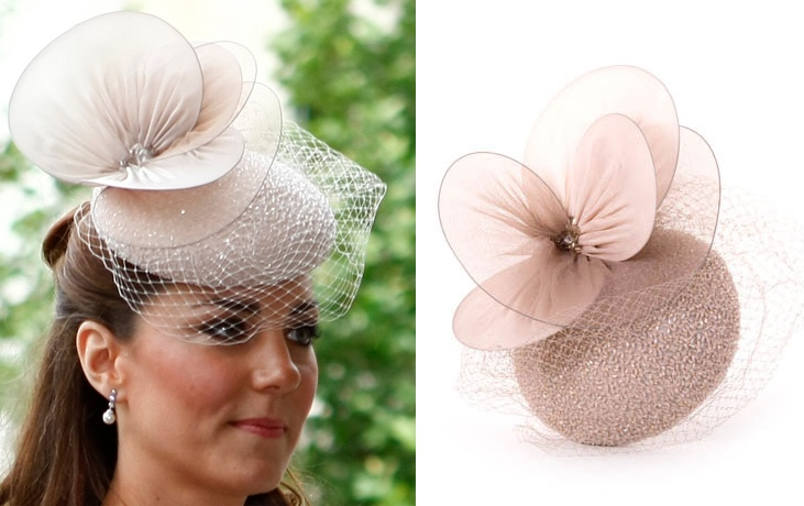 7b77094628580 Kate Jubilee Church Service Jane Taylor Beaded Cocktail Hat Tim ...