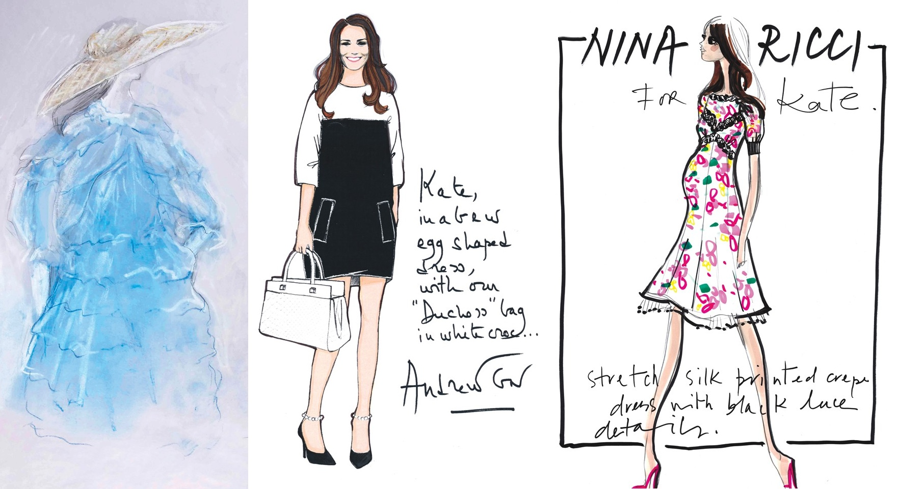 Andrew Gn Kate Middleton Maternity Dress Sketch Archives
