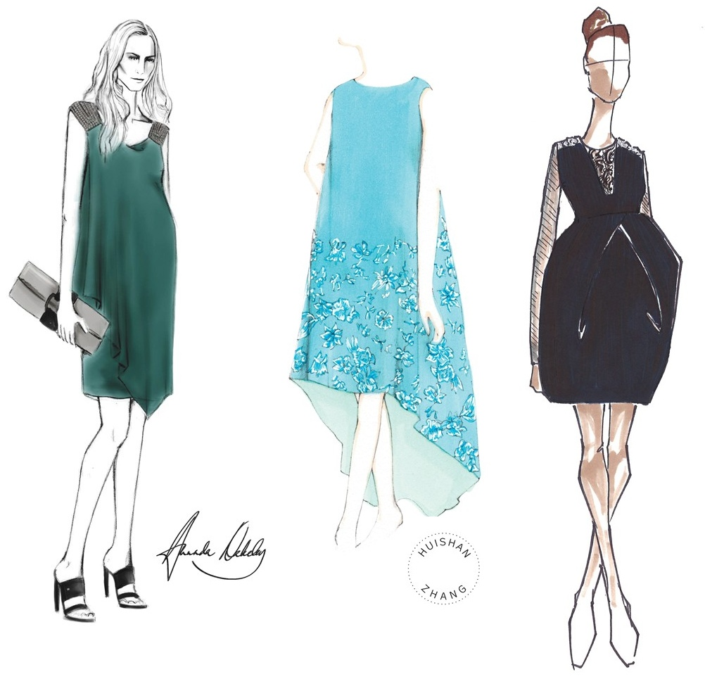 0113ff70a41 Nicole Miller maternity dress sketch Archives - What Kate Wore