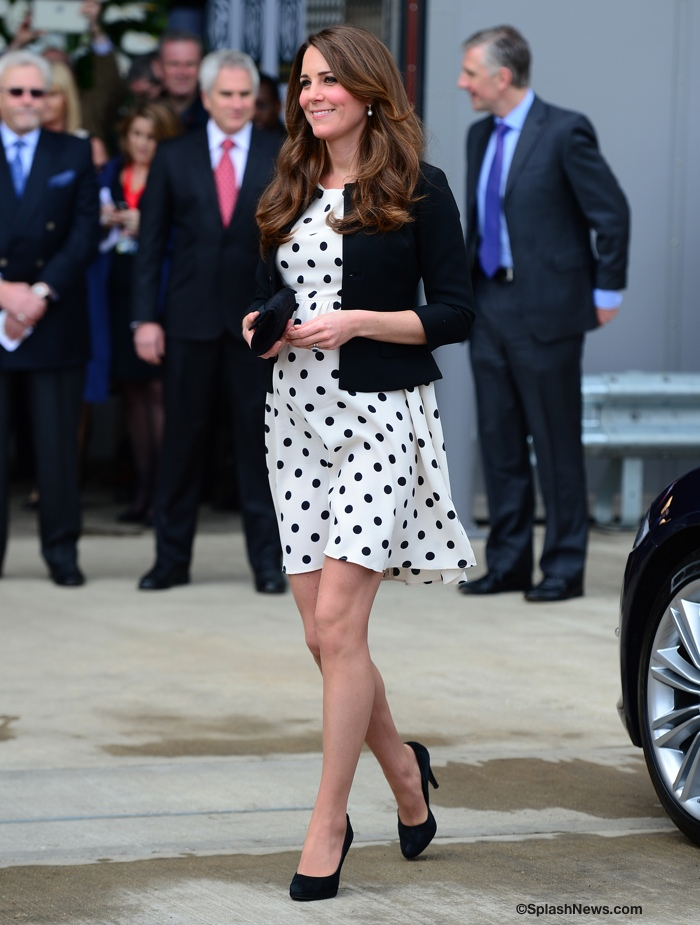 Kate Middleton Polka Dot Topshop Dress