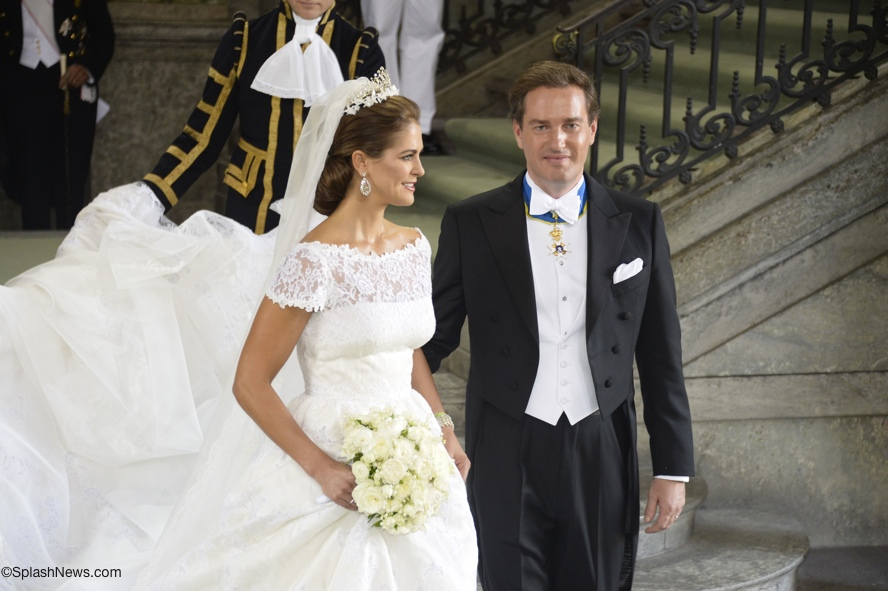 Princess Madeleine wedding dress Valentino Archives - What Kate Wore