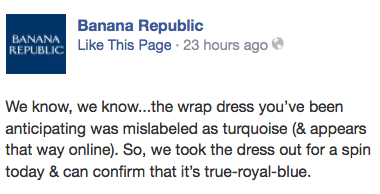 Banana Republic Facebook