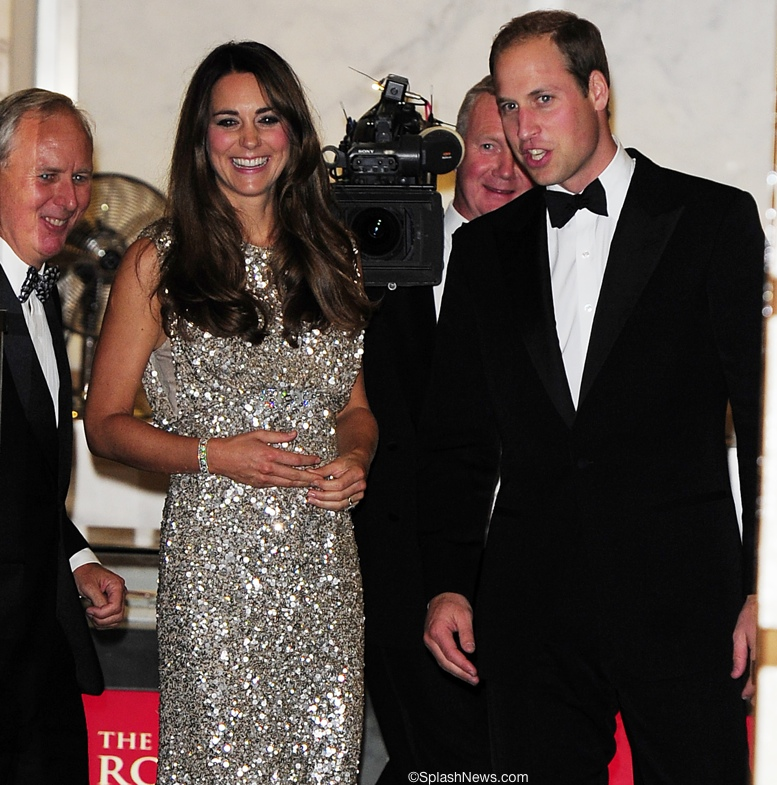 Kate Middleton Tusk Awards Jenny Packham shimmering gown