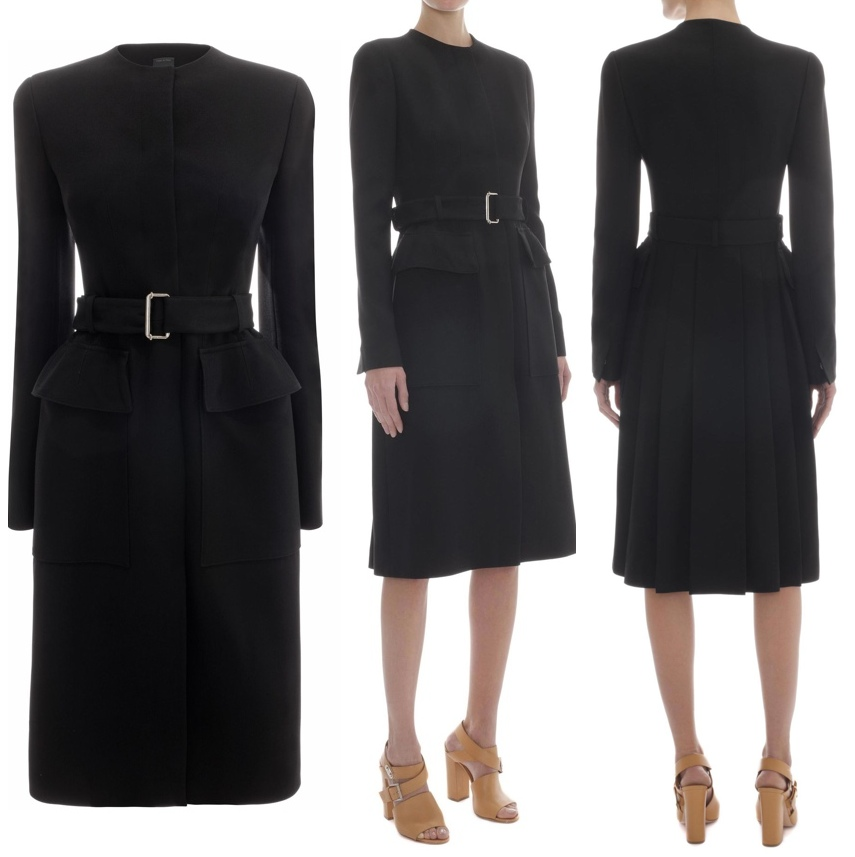 black coat dresses - 28 images - takes the plunge in satin tuxedo ...