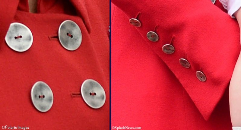 Kate Middleton Red Catherine Walker Coat Closeups Details New Zealand