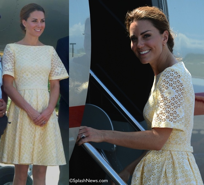 Kate-Tour-Yellow-Eyelet-Indy-Dressmaker-Rebecca-English-James-Whatling-Splash-News