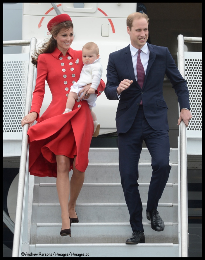 Kate Middleton Red Cath Walker Arriving New Zealand