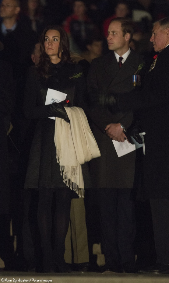 Kate William Anzac Day Dawn Canberra Temperley