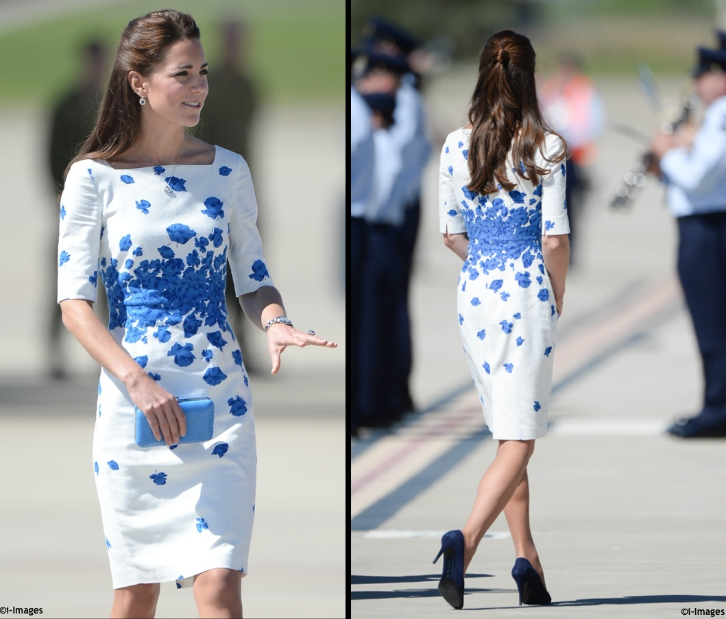 http://whatkatewore.com/wp-content/uploads/2014/04/OZ-Tour-2014-Kate-LK-Bennett-Snorkel-Blue-Lasa-Poppy-Dress-Ambley-Air-Force-Base-.jpg