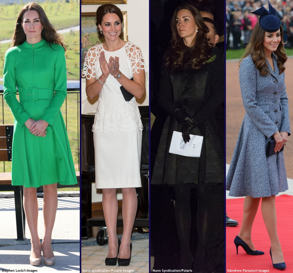 Kate Royal Tour Wardrobe Wrapup Green Catherine Walked White Lela Rose Black Temperley Noa Navy Twill Michael Kors