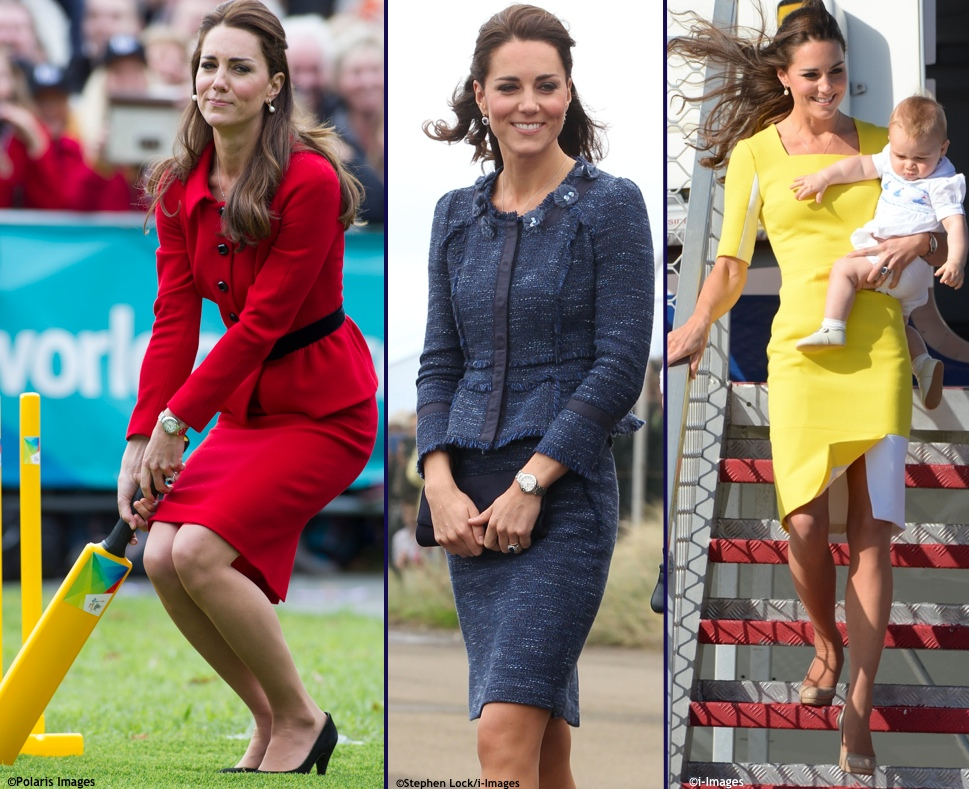 Kate Royal Tour Wrapup Red Luisa Spagnoli Christchurch Cricket Blue Rebecca Taylor Sparkle Tweed Yellow Ilincic Ryedale Polaris, i-Images, i-Images
