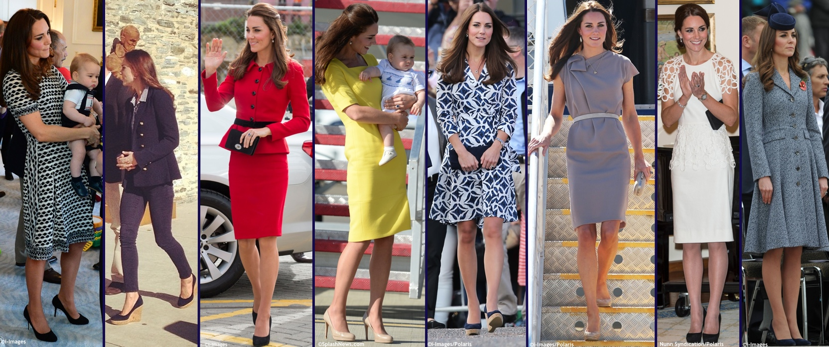Royal Tour 2014 Wardrobe Overview Other Collage Minus Max Mara MaxMara Wrap Dress Sydney
