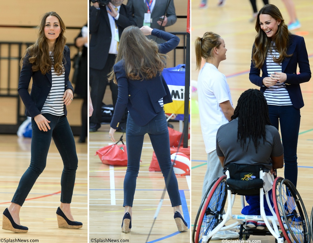 Kate Middleton Plays Volleyball Heels Wedges Corkswoon