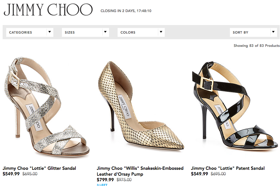 Rue La La Jimmy Choo Flash Sale