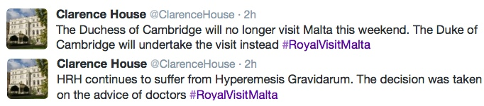 Clarence House Twitter Feed