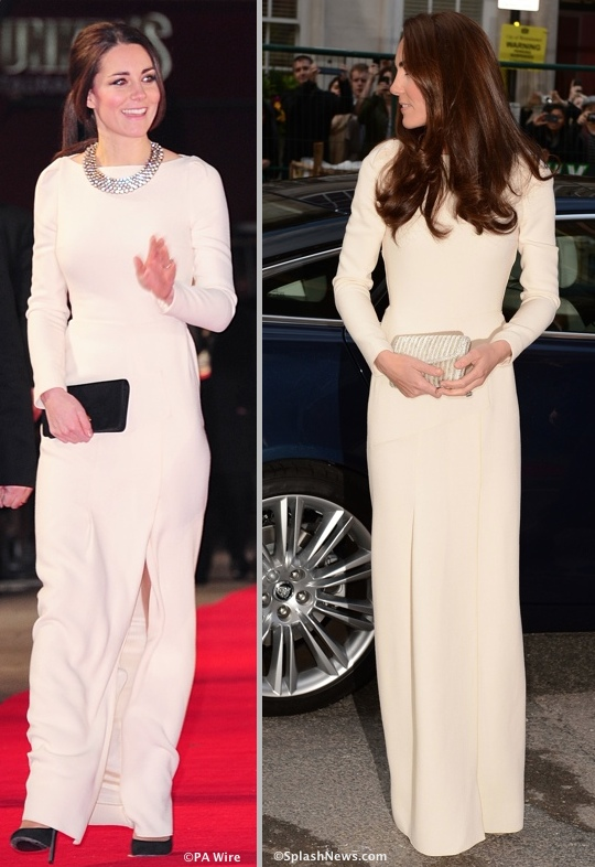 Duchess Cambridge Kate Roland Mouret ella Lombard gown