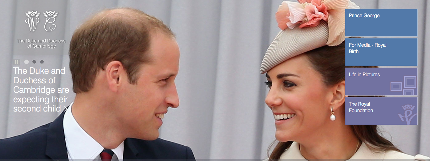 The Duke & Duchess of Cambridge Website