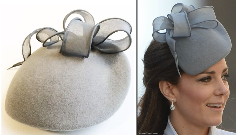 Kate 2014 Tour Wrapup Grey Jane Taylor Hat Easter Sunday Two Shot i-Images