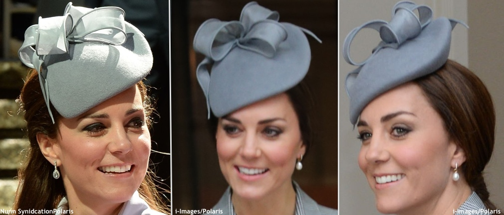 Kate Singapore State Visit Grey Jane Taylor Hat 3 Shot Easter 2014 Nunn Syndication 2 i-Images Polaris