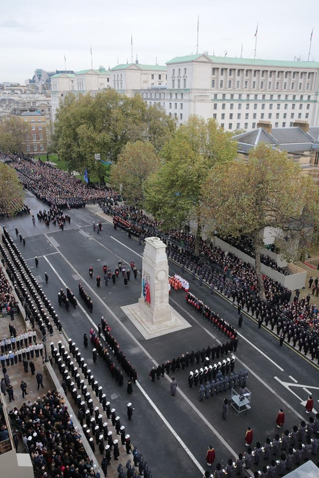 Remembrance Sunday 2014 at Cenotaph Her Majesty's Armed Forces Facebook High Shot