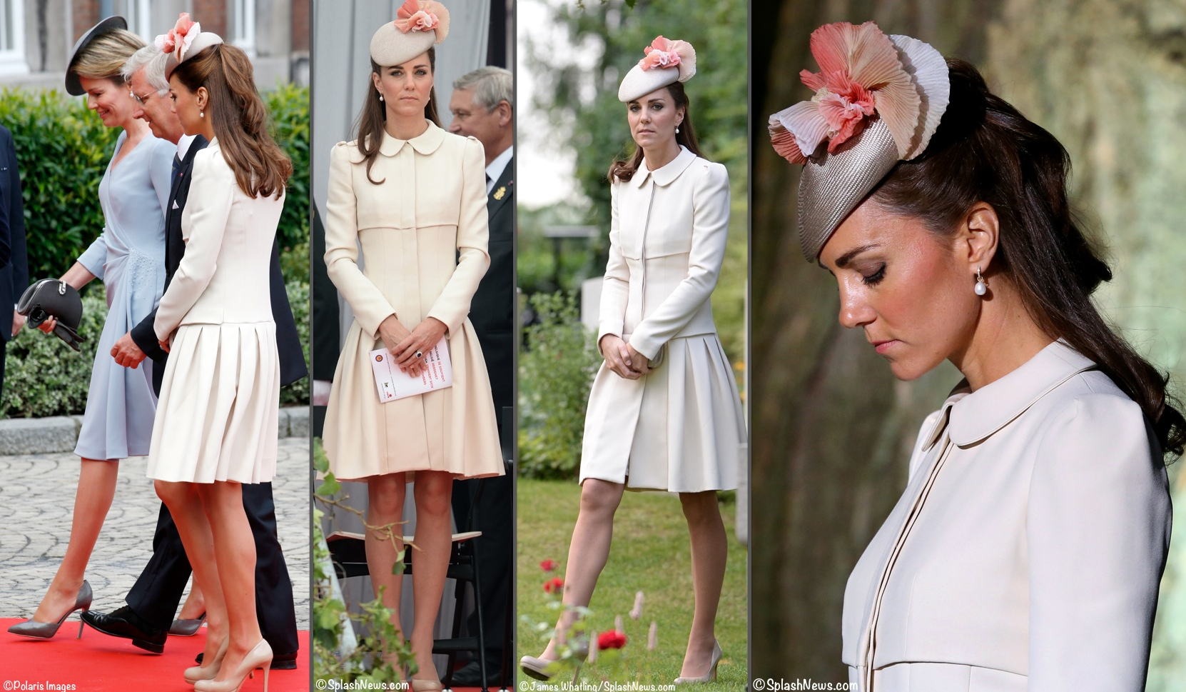Kate 2014 Year End Polls Creamy White McQueen Liege Belgium J Taylor Hat 4 Shot