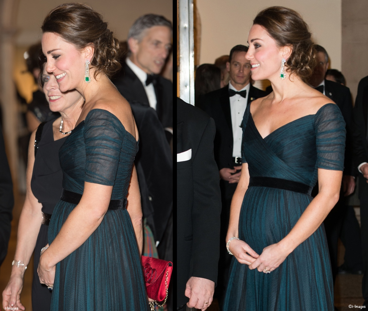 It S Jenny Packham S Inky Blue Gown Glittering New Jewelry For