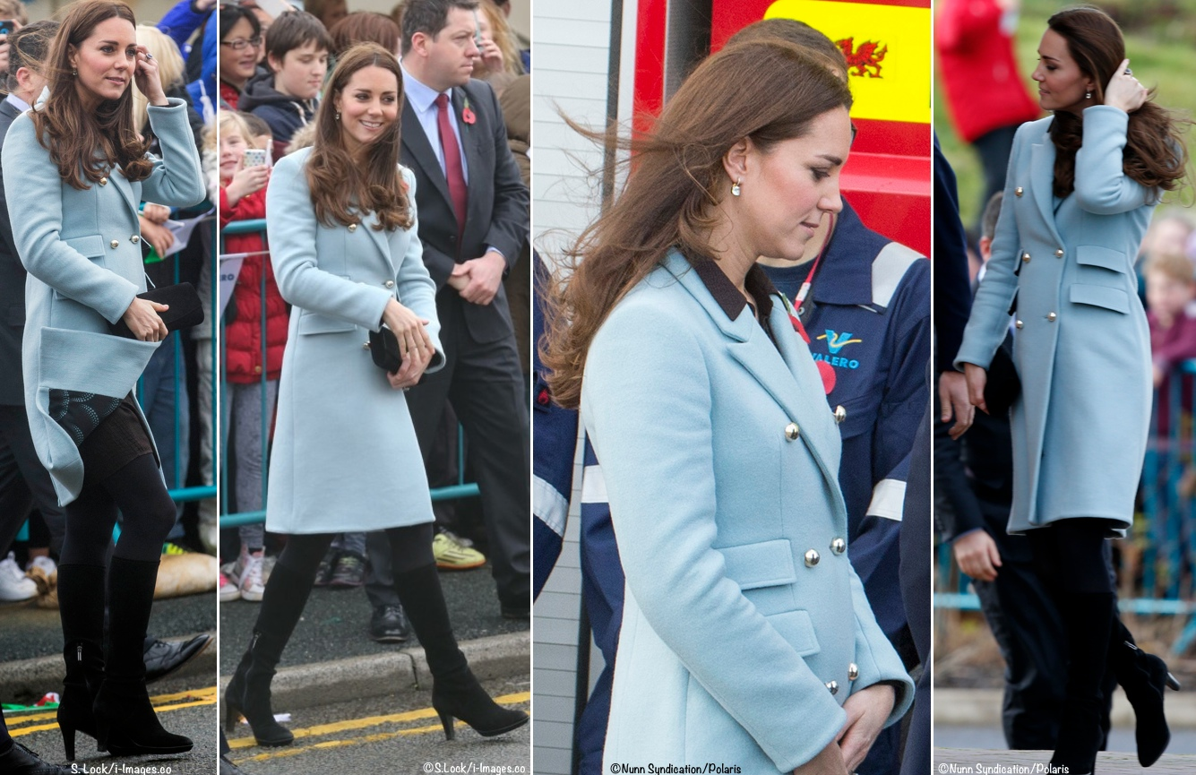 Kate 2014 Year End Polls Matthew Williamson Coat Pembroke Oil Refinery Wales William All Labeled 4 Shot