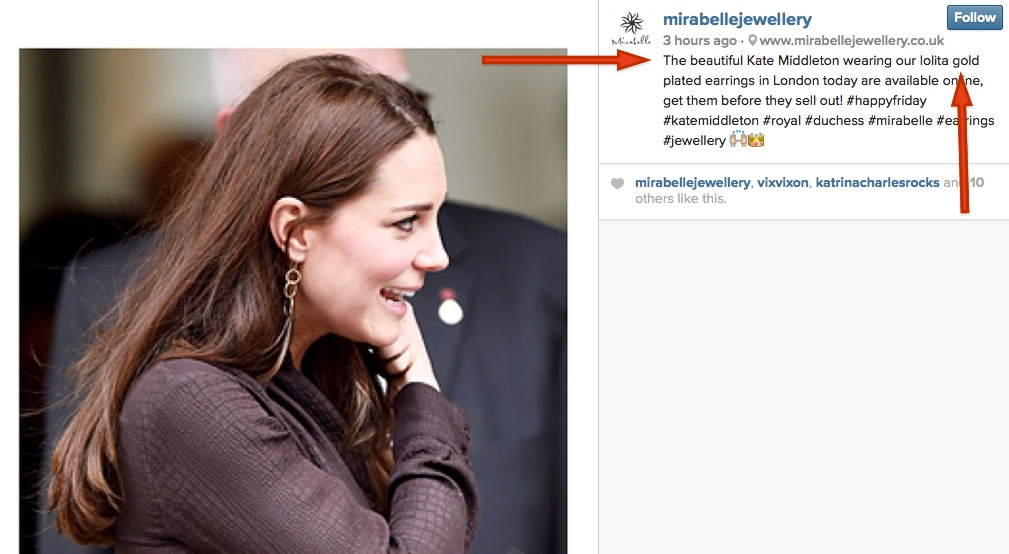 Kate Fostering Jan 16 2015 Mirabelle Instagram Showing Kate wearing Lolita Style.jpg