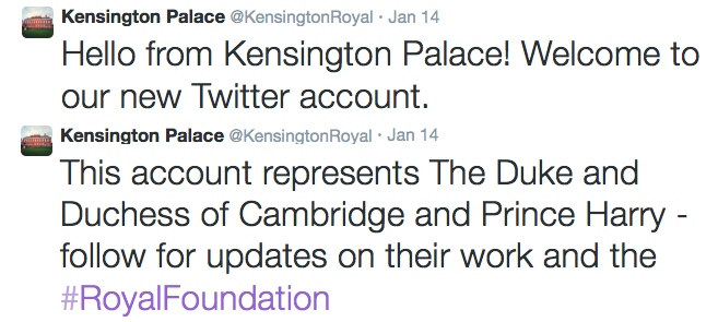 Kensington Palace Twitter Feed (@KensingtonRoyal)
