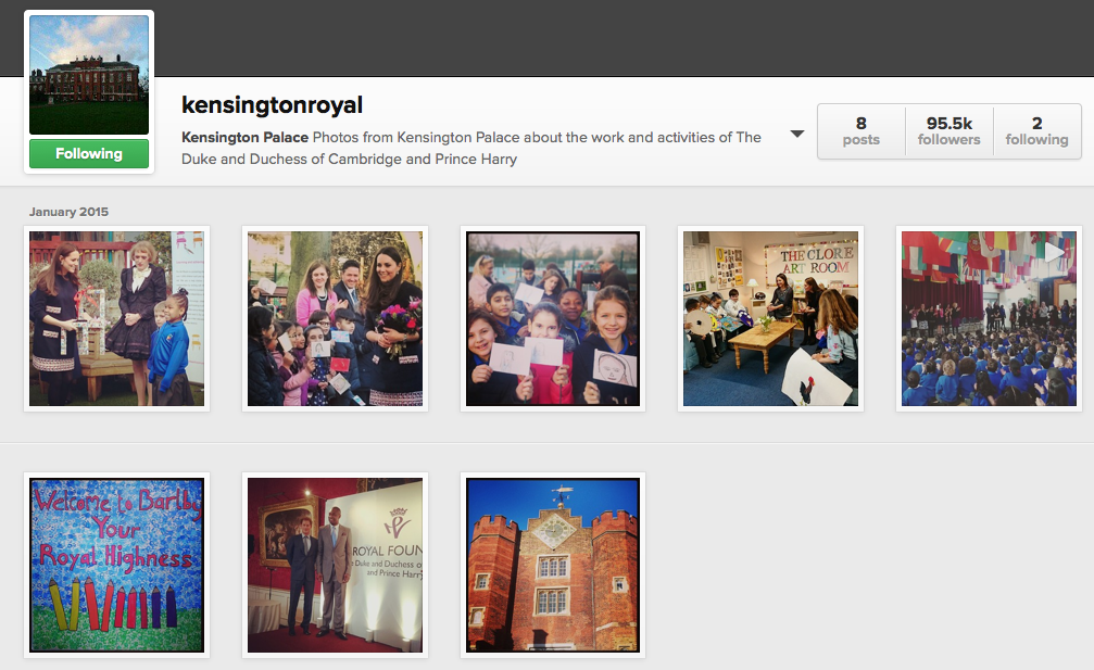 Kensington Place Instagram Feed (@KensingtonRoyal)