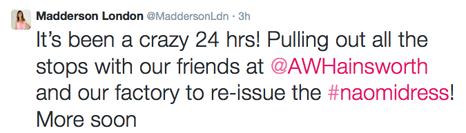Madderson London Twitter Feed