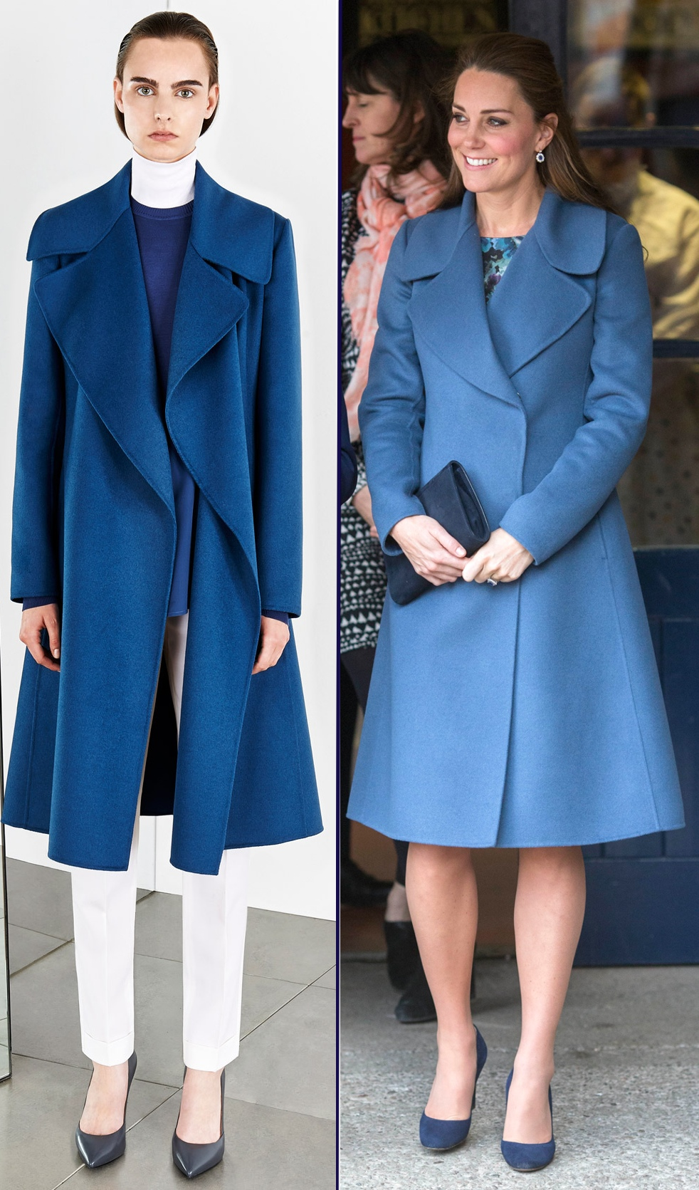 Kate Max Mara SportMax Sport Max Blue Coat Emma Bridgewater Side by Side i-Images
