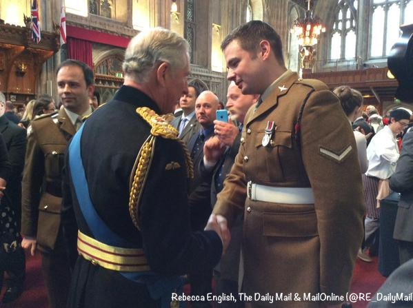 Afghan Service Prince Charles meets Prince Charles meets Lance Corporal Joshua Leakey, recent recipient of the Victoria Cross at Guildhall R English Twitter