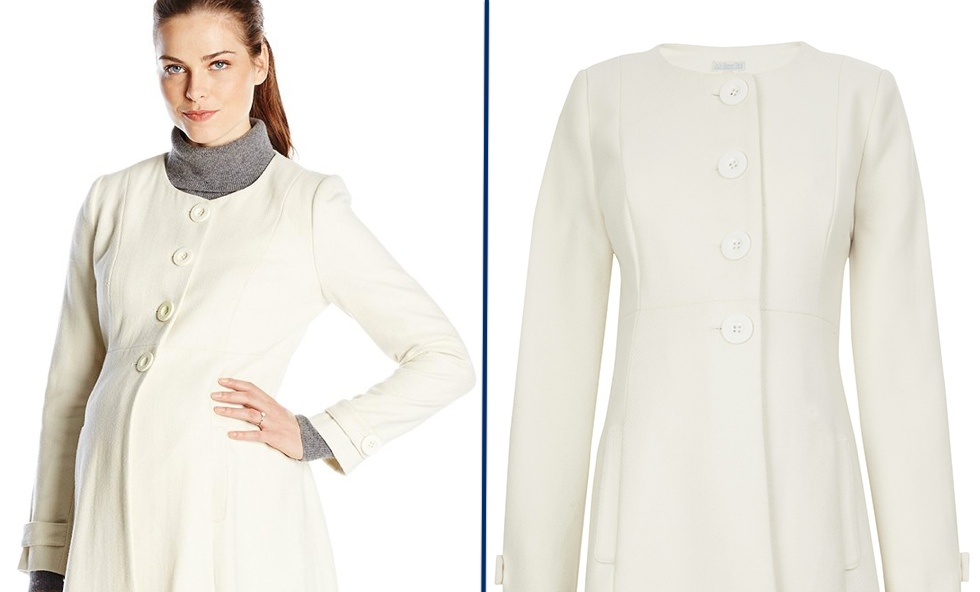 Kate Downton Abbey Cream Princess Line Coat Jojo Maman Bebe Product Shots March 12 2015