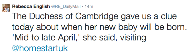 Rebecca English, The Daily Mail & MNail Online Twitter (@RE_DailyMail)