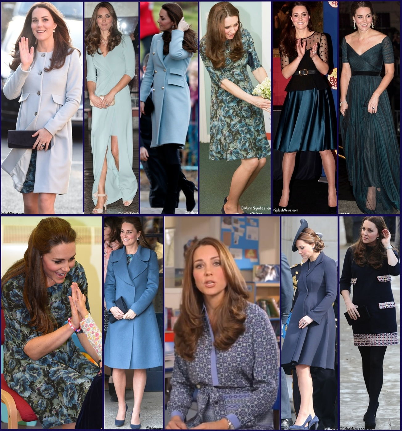 Kate Maternity Pregnancy Wardrobe Wrapup Blue Hues April 2015